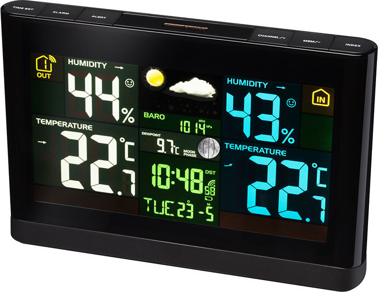 Bresser Radio Controlled Weather Station with Colour Display
