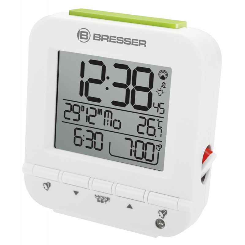 Bresser MyTime Easy RC Alarm Clock White