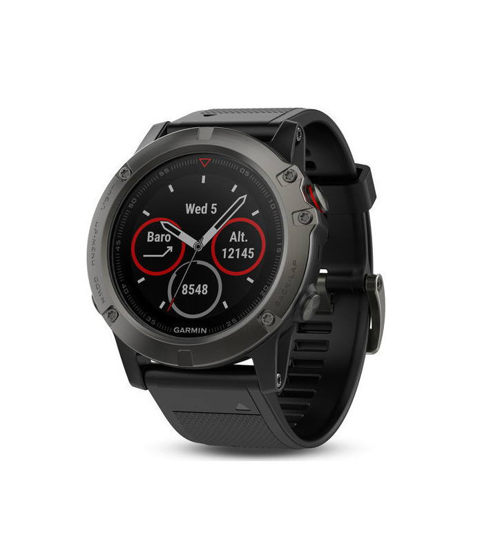 Garmin Fenix 5X Sapphire Grey With Black Armband 51mm Πληρωμή έως 24 δόσεις