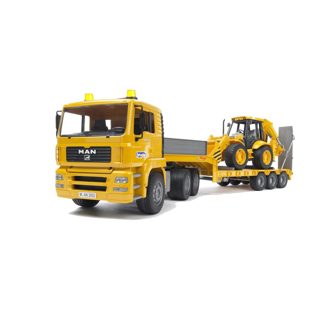 Bruder Επικαθύμενο Φορτηγό MAN με Εκσκαφέα JCB 02776
