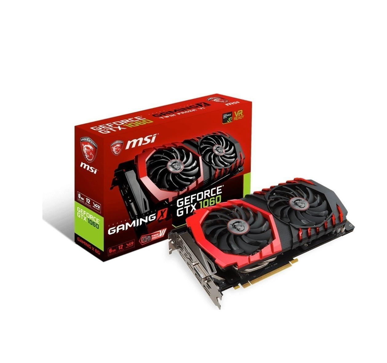 MSI GeForce GTX1060 6GB Gaming X Κάρτα Γραφικών Πληρωμή έως 24 δόσεις
