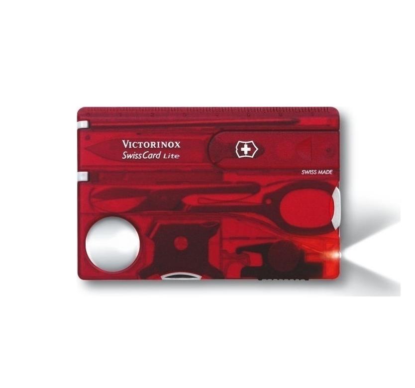 Victorinox Swisscard Lite 0.7300.T Πολυεργαλείo Red