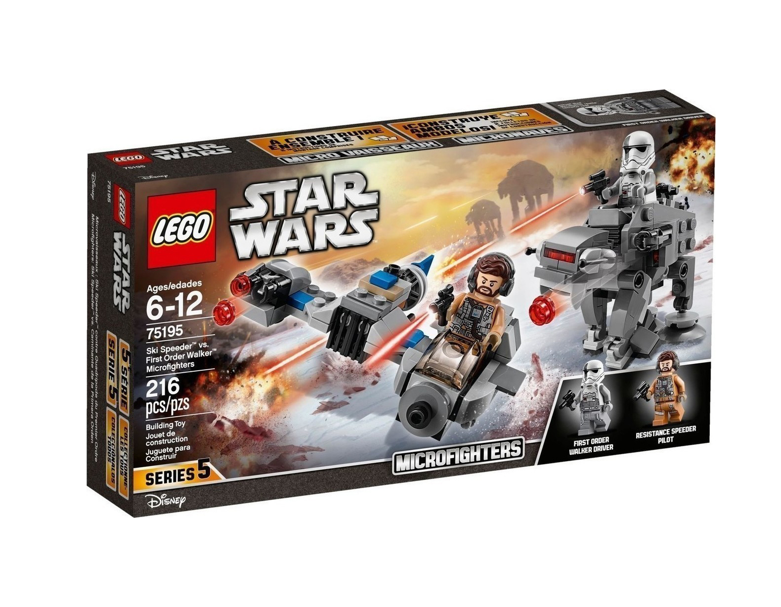 Lego Star Wars: Ski Speeder vs First Order Walker Microfighters 75195