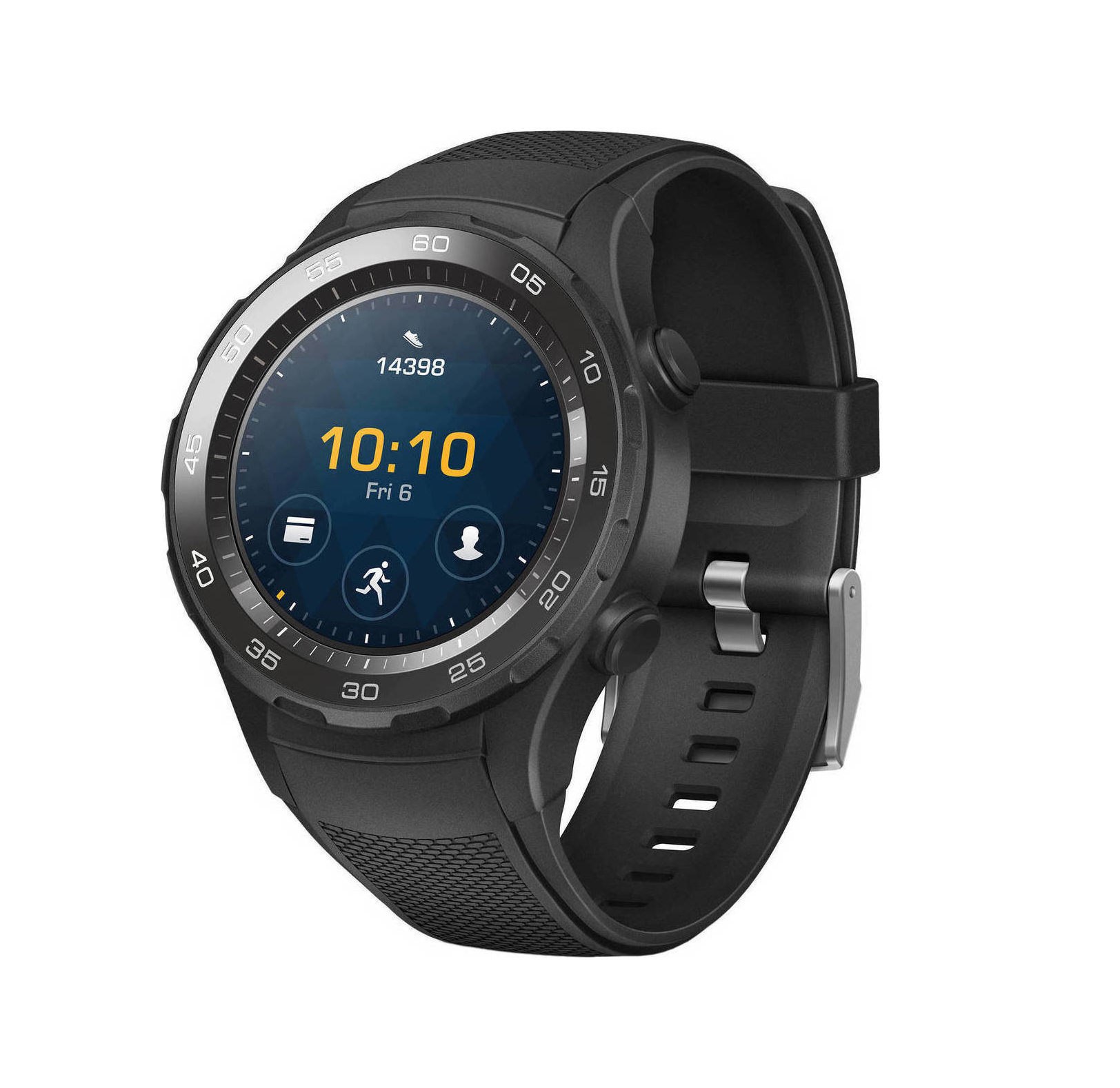Huawei Watch 2 LTE Carbon Black Πληρωμή έως 24 δόσεις