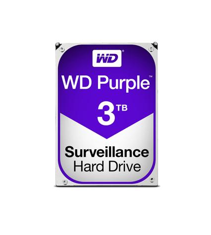 Western Digital Purple HDD 3TB WD30PURZ Σκληρός Δίσκος 3.5'' Sata 3