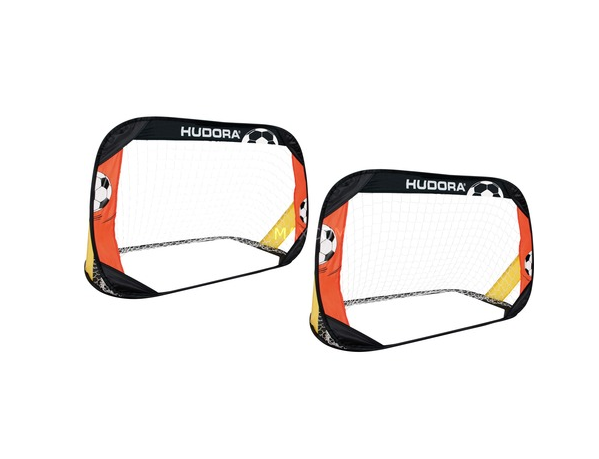 Τέρμα Hudora Soccer Pop Up Set of 2 Black/Red