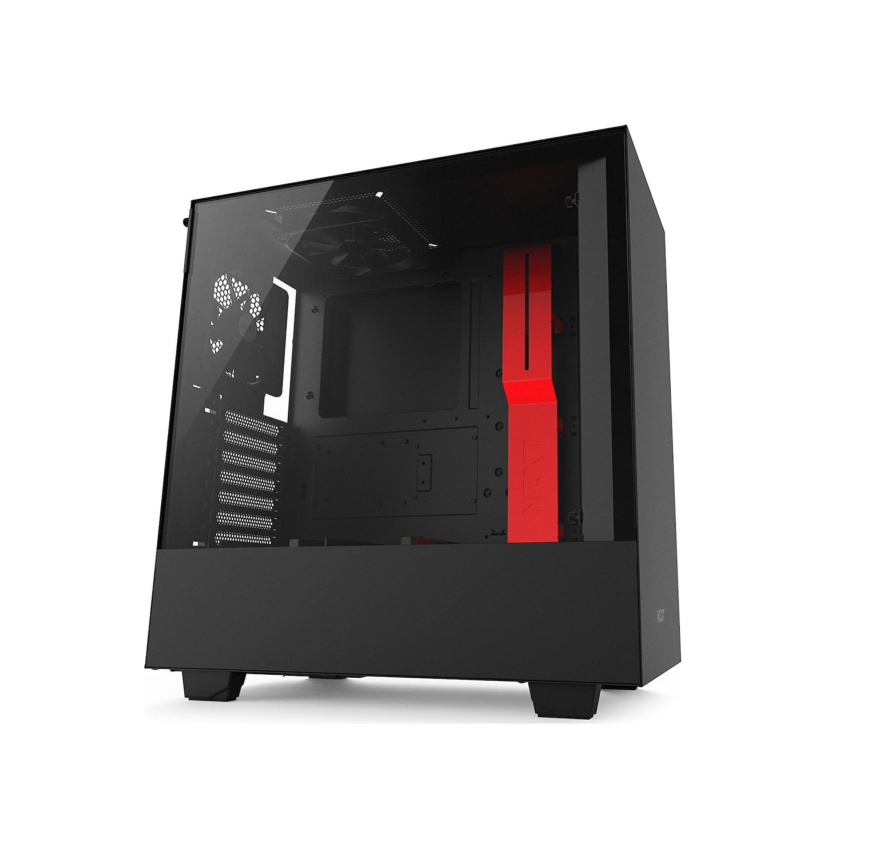 NZXT H500i Window Midi Tower ATX CA-H500W-BR Black/Red