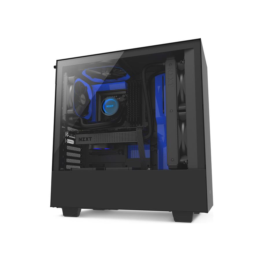 NZXT H500 Window Midi Tower CA-H500B-BL Black/Blue