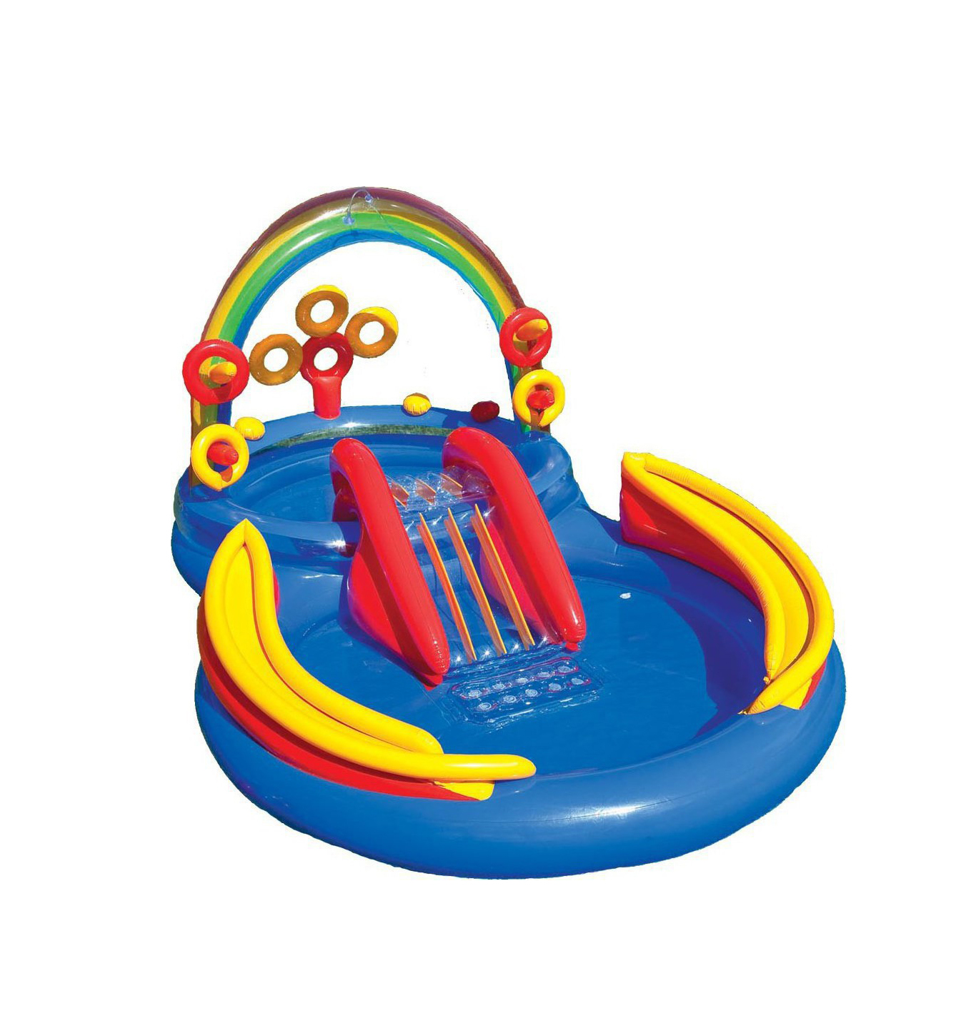 Φουσκωτή Πισίνα Intex Rainbow Ring Play Center 297x193x135cm 157453NP