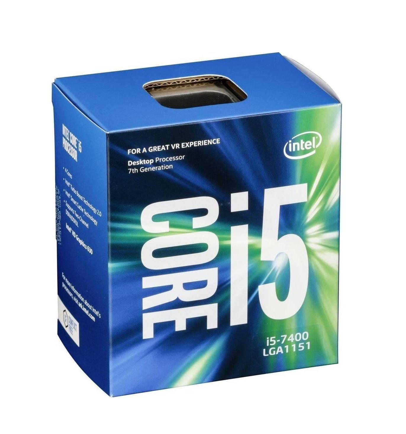 Intel Core i5-7400 Box Επεξεργαστής Πληρωμή έως 24 δόσεις