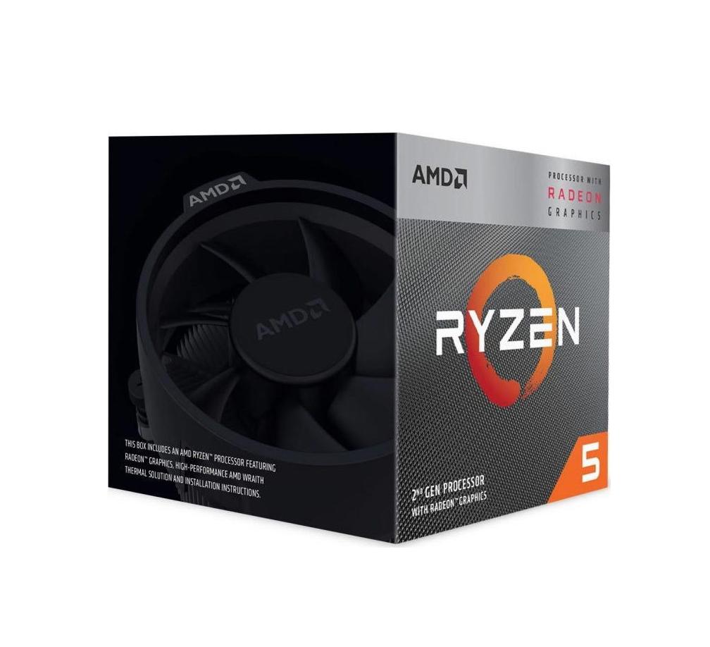 AMD Ryzen 5 3400G Box Επεξεργαστής Πληρωμή έως 24 δόσεις