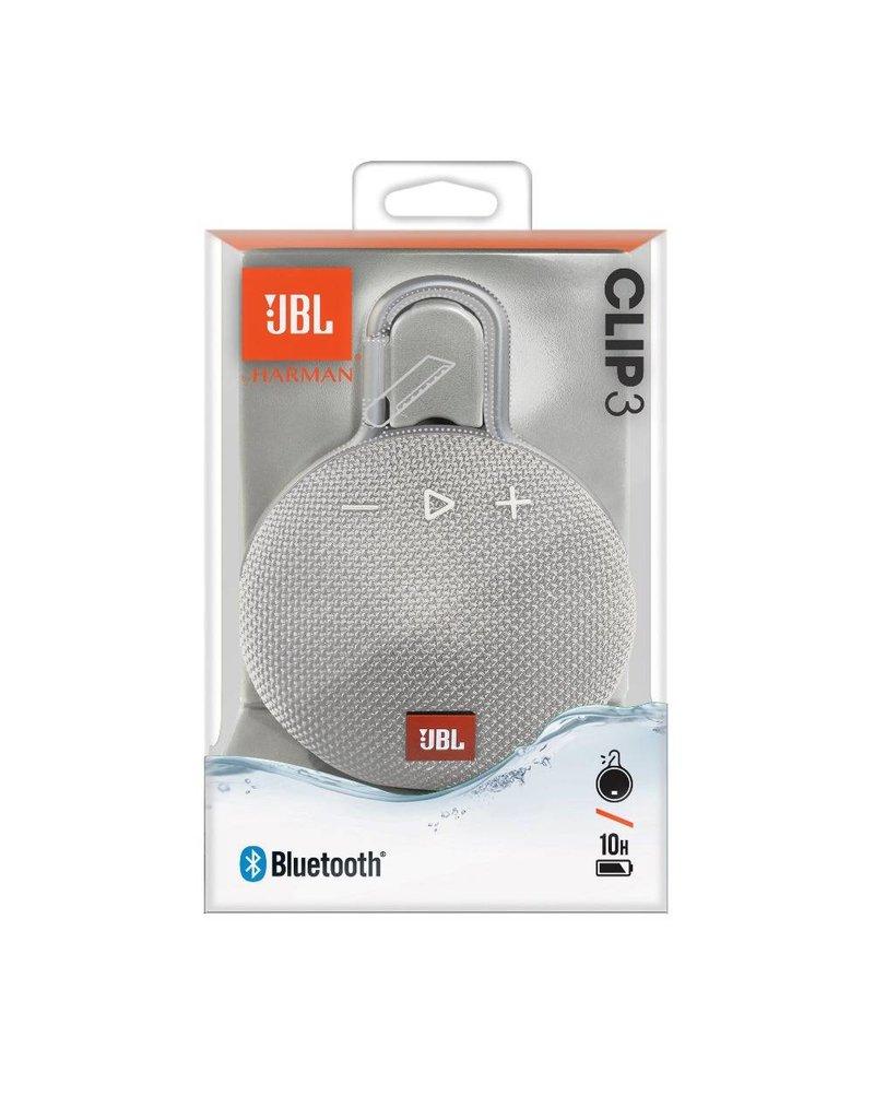 JBL Clip 3 Waterproof Bluetooth Ηχείο White