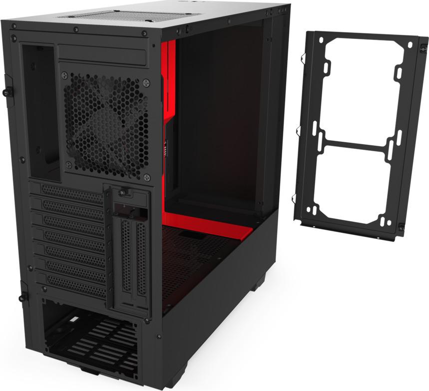 NZXT H510i Window Midi Tower CA-H510i-BR Black/Red