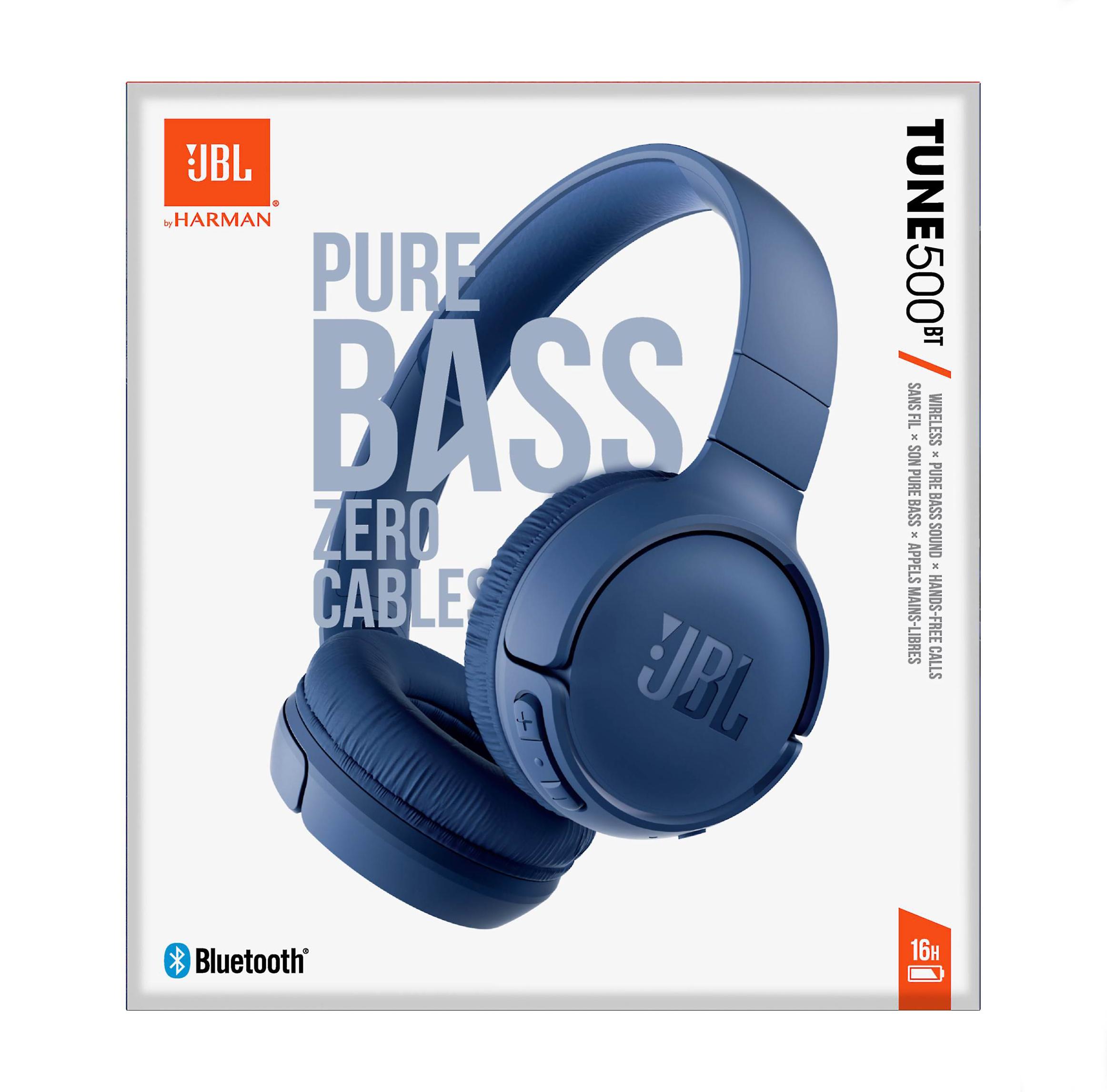 JBL Tune 500BT Bluetooth Headphones Blue