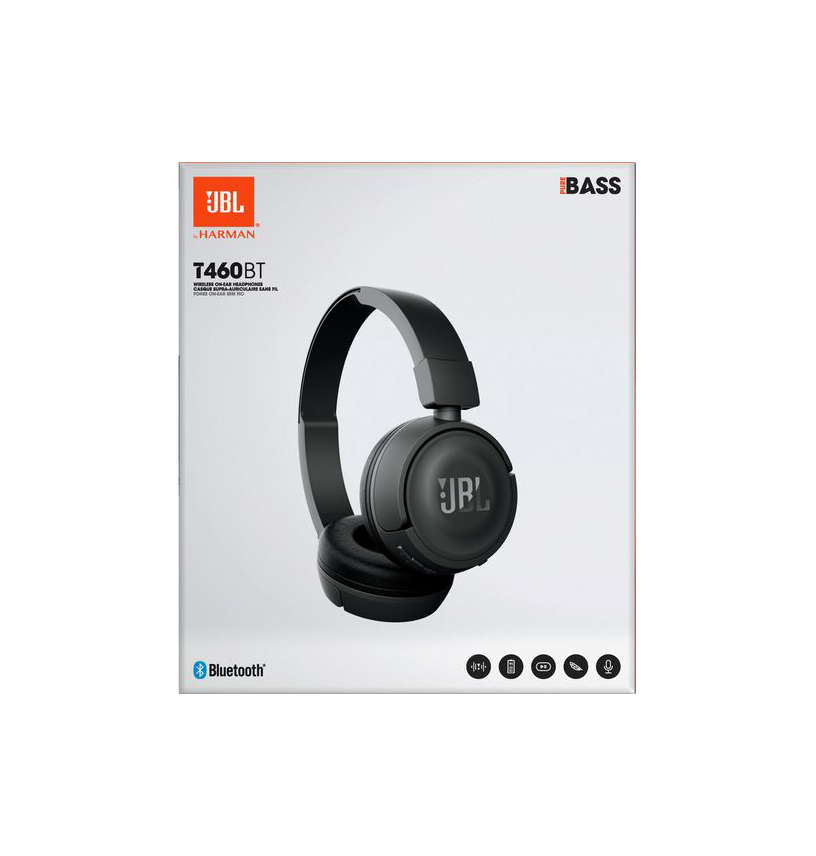 JBL T460BT Bluetooth Headphones Black