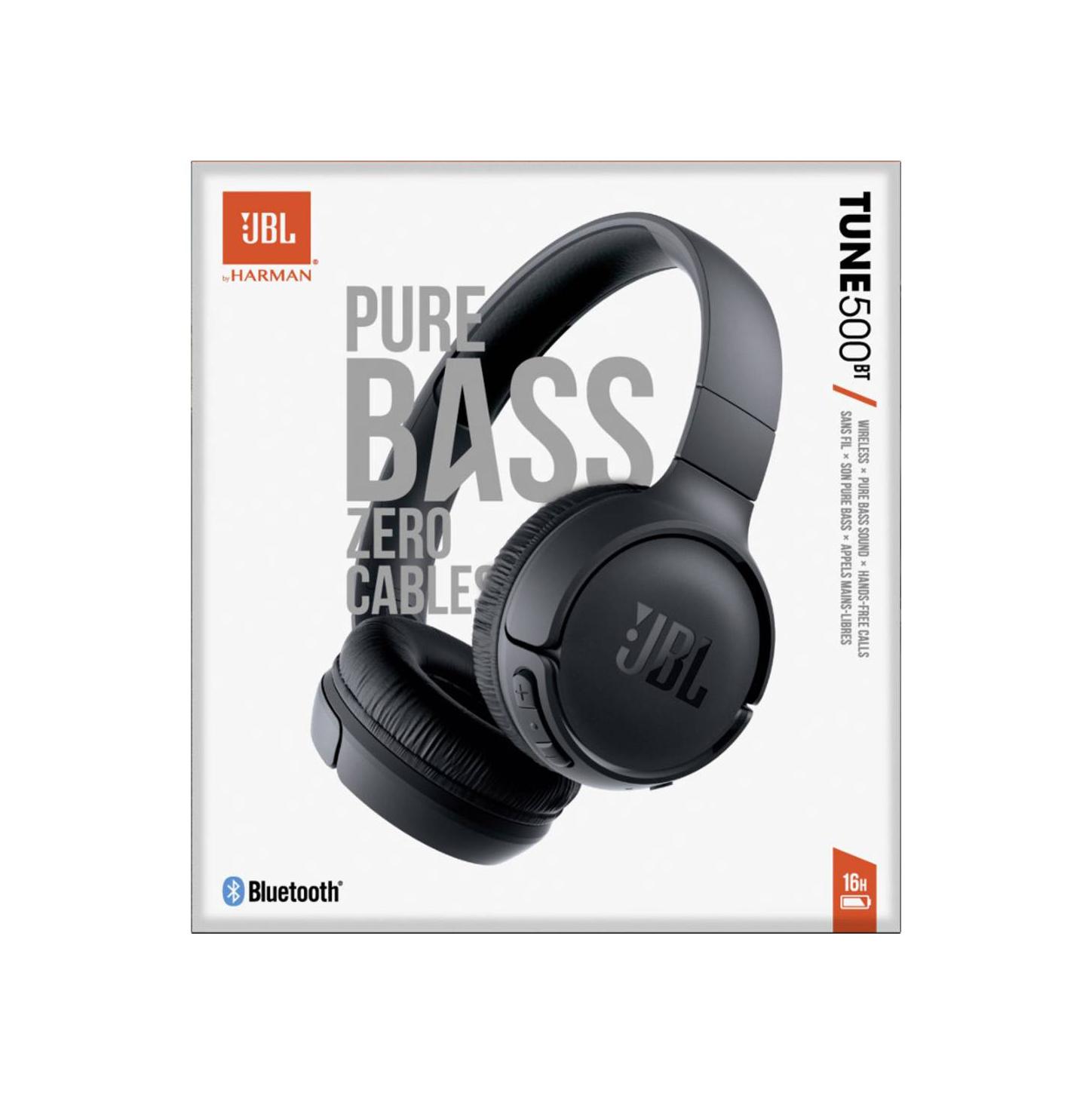 JBL Tune 500BT Bluetooth Headphones Black