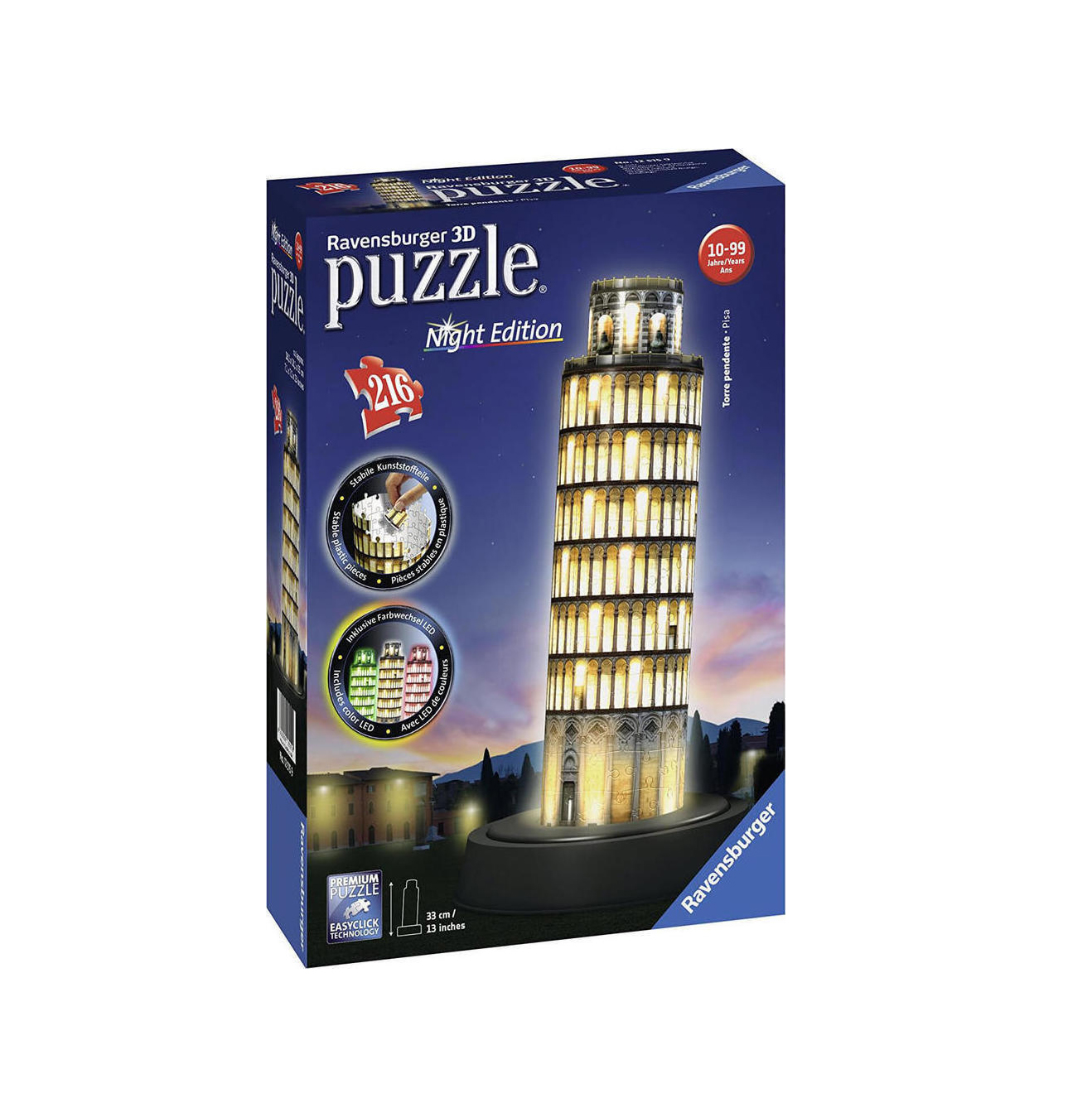 Leaning Tower of Pisa, Night Edition Ravensburger 12515