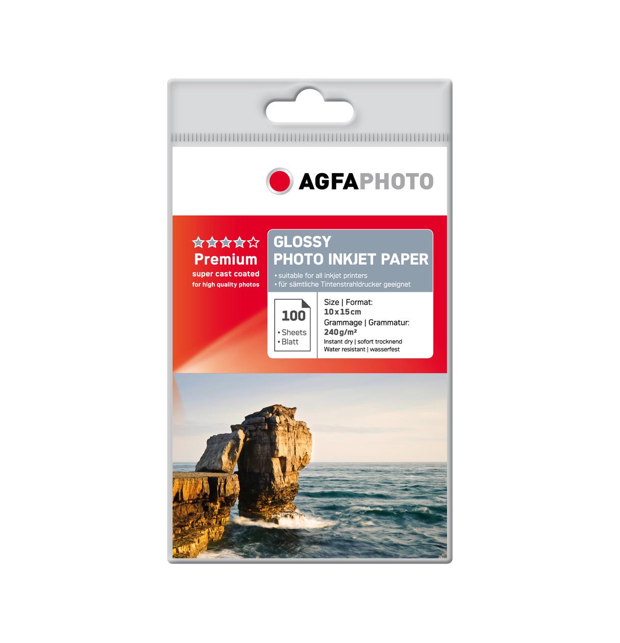 AgfaPhoto Premium Glossy Photo Paper A6 240gr 100 Φύλλα AP240100A6