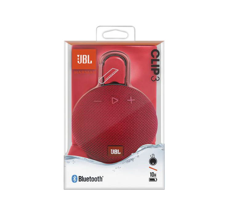 JBL Clip 3 Waterproof Bluetooth Ηχείο Red