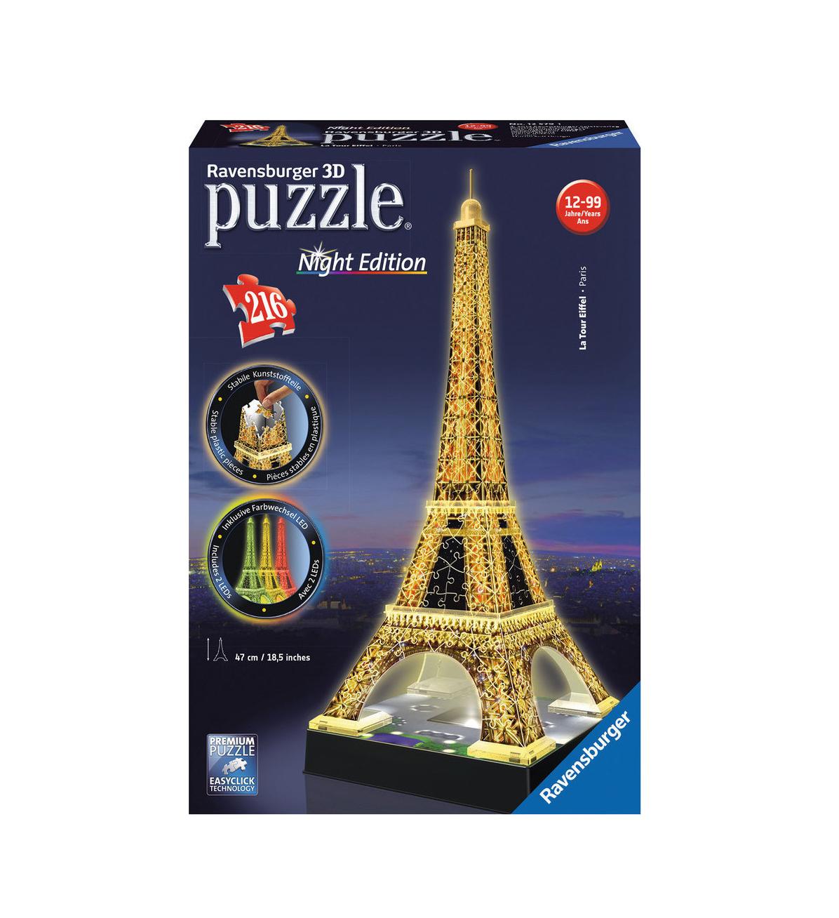 3D Puzzle Eiffel Tower Ravensburger 12579
