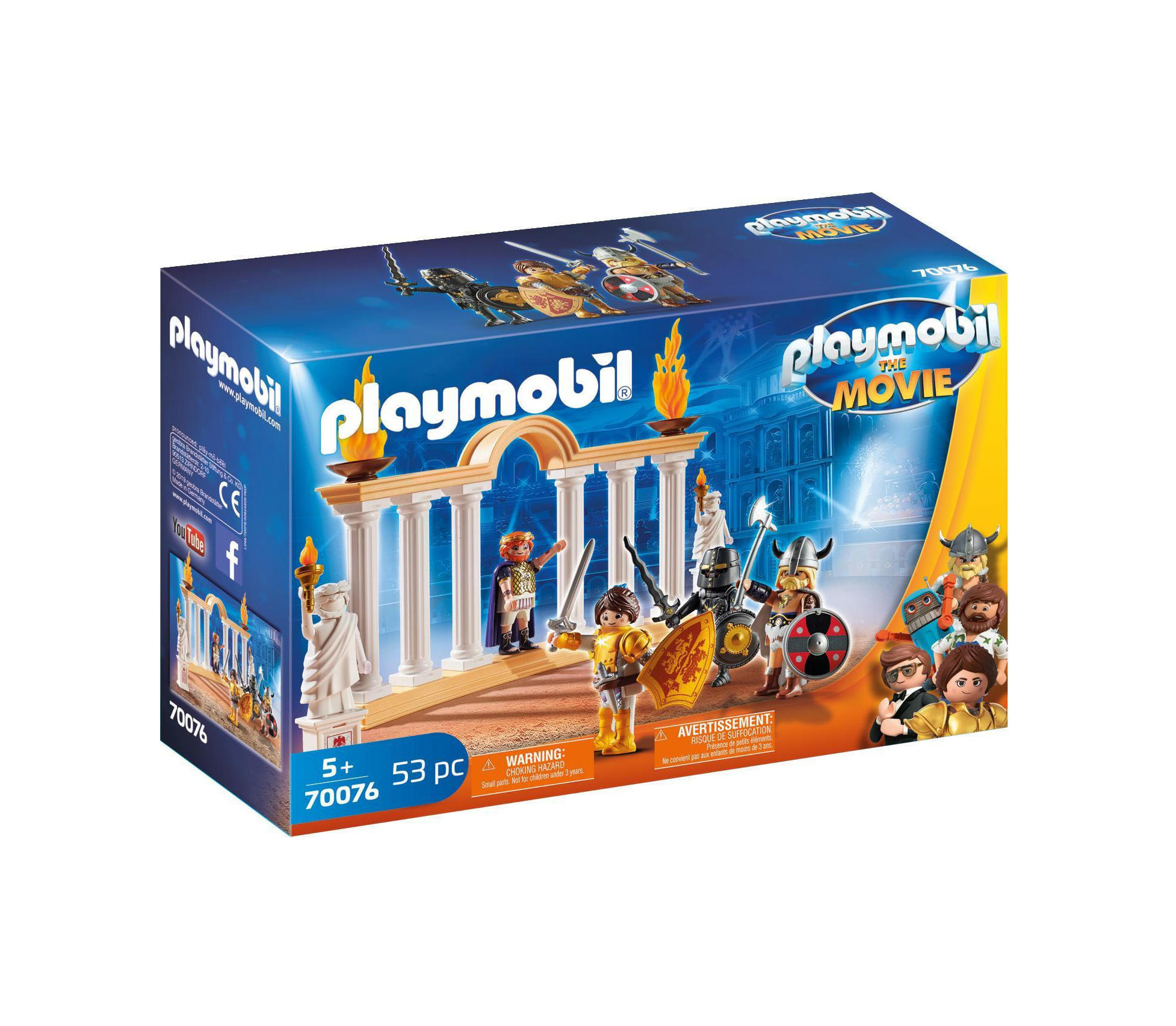 Playmobil The Movie: Emperor Maximus In The Colosseum 70076