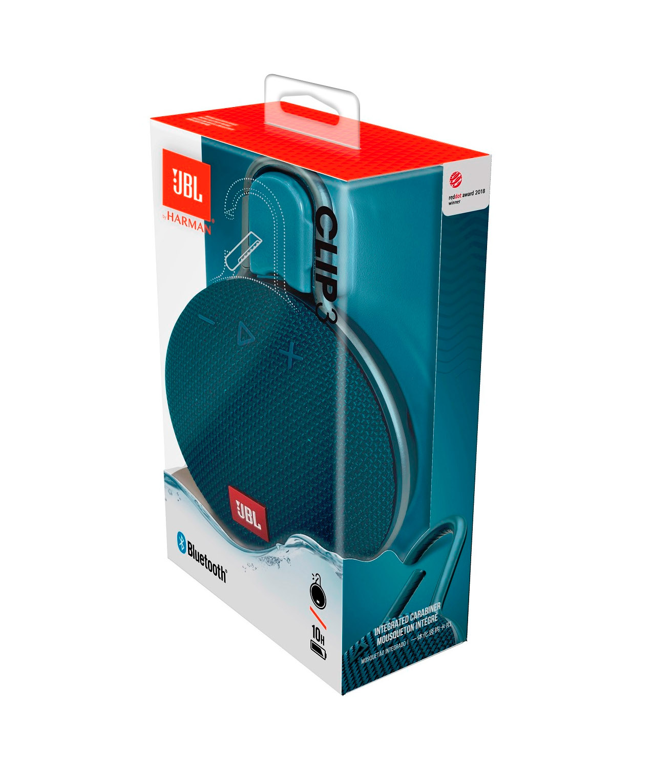 JBL Clip 3 Waterproof Bluetooth Ηχείο Blue