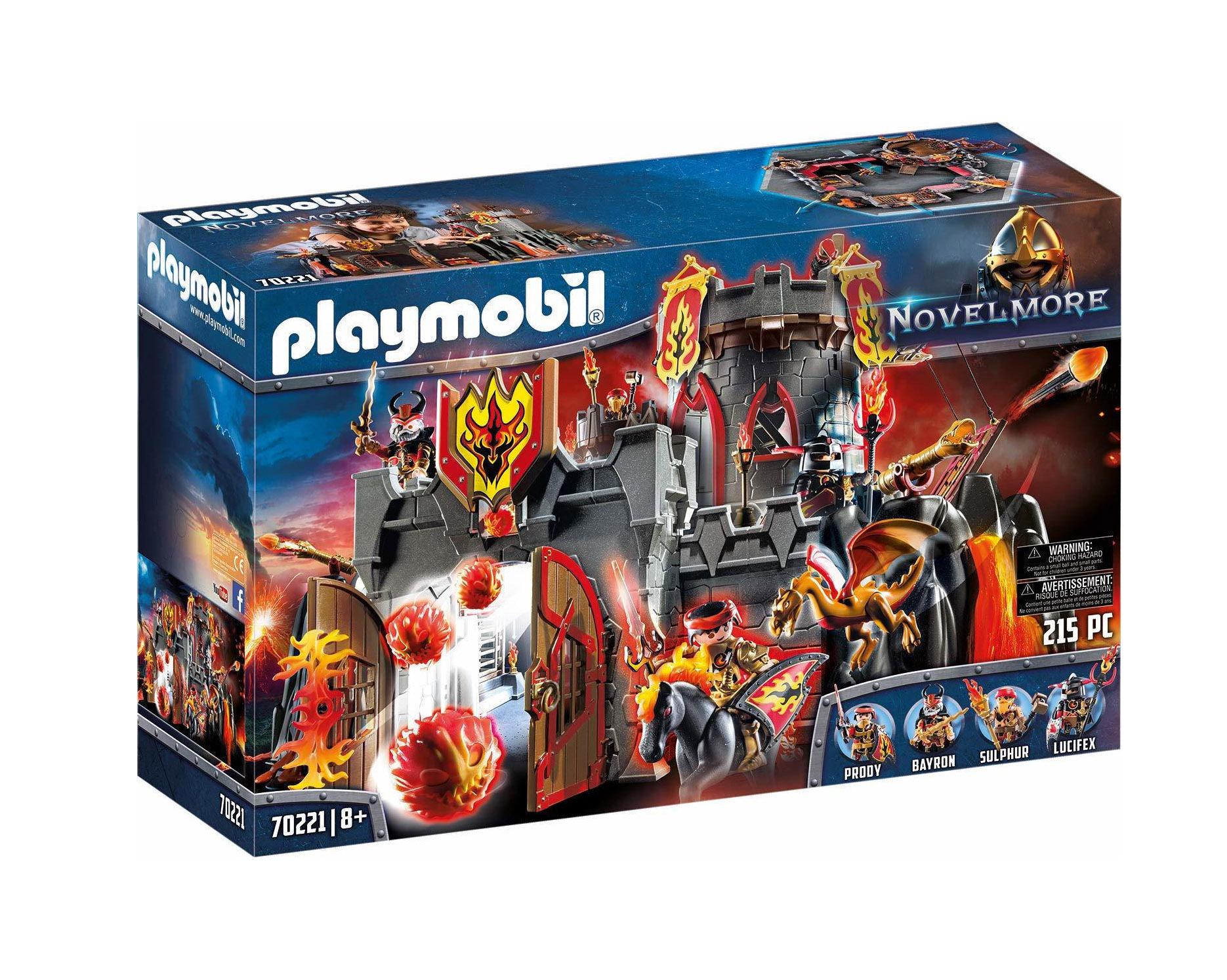 Playmobil Novel More: Fortress Fire Rock 70221