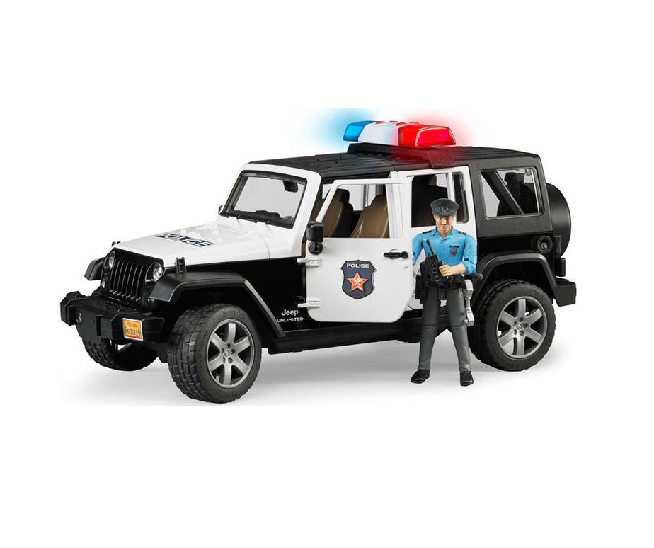 Bruder Τετρακίνητο Όχημα Wrangler Αστυνομίας με Αστυνομικό 02526