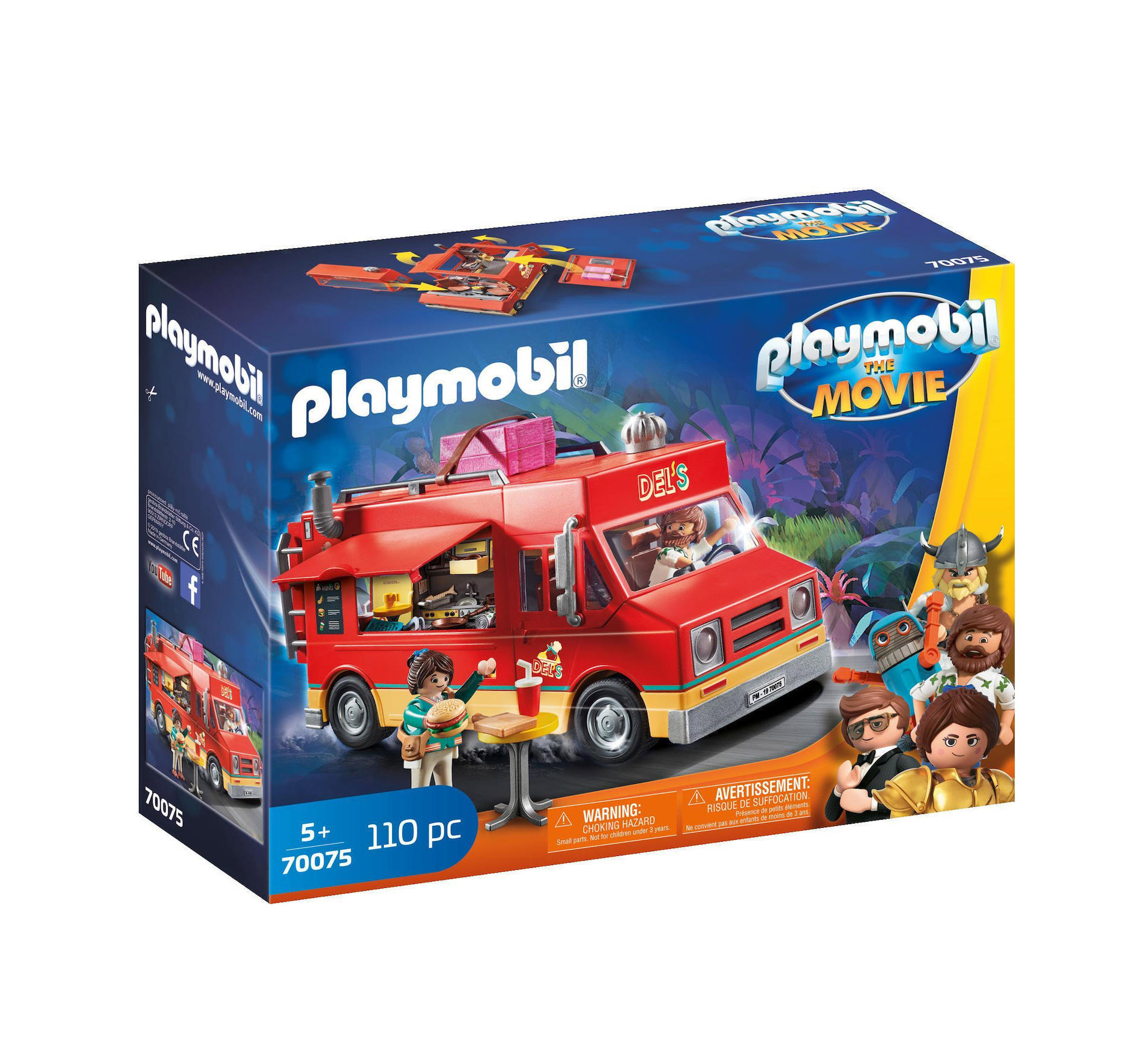 Playmobil The Movie: Del's Food Truck 70075