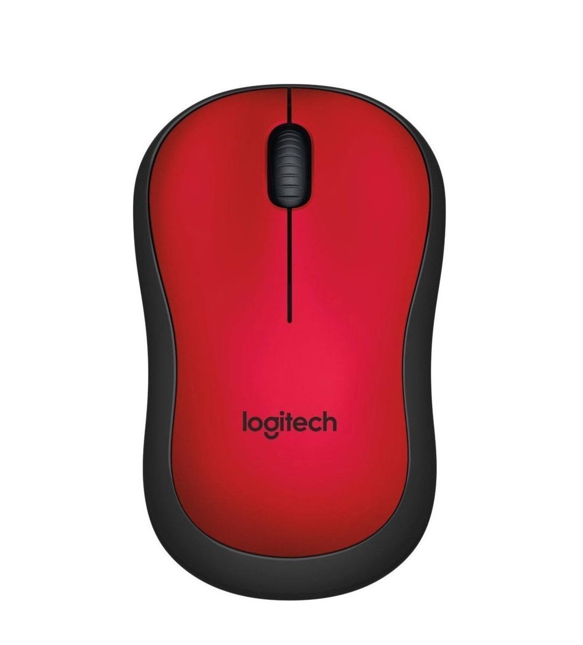 Logitech M220 Silent Ασύρματο Ποντίκι Red
