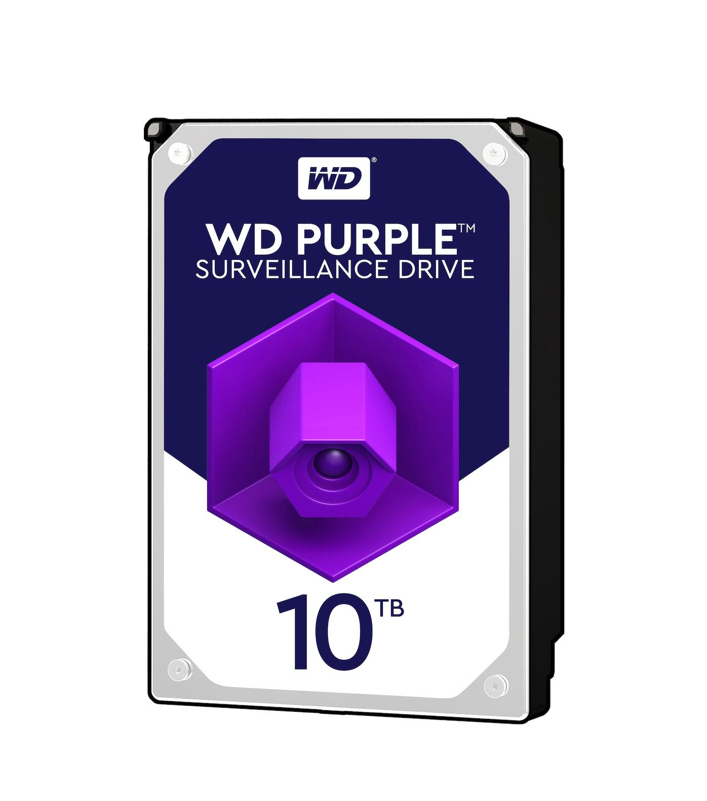 Western Digital Purple HDD 10TB WD101PURZ Σκληρός Δίσκος* 3.5'' Sata 3
