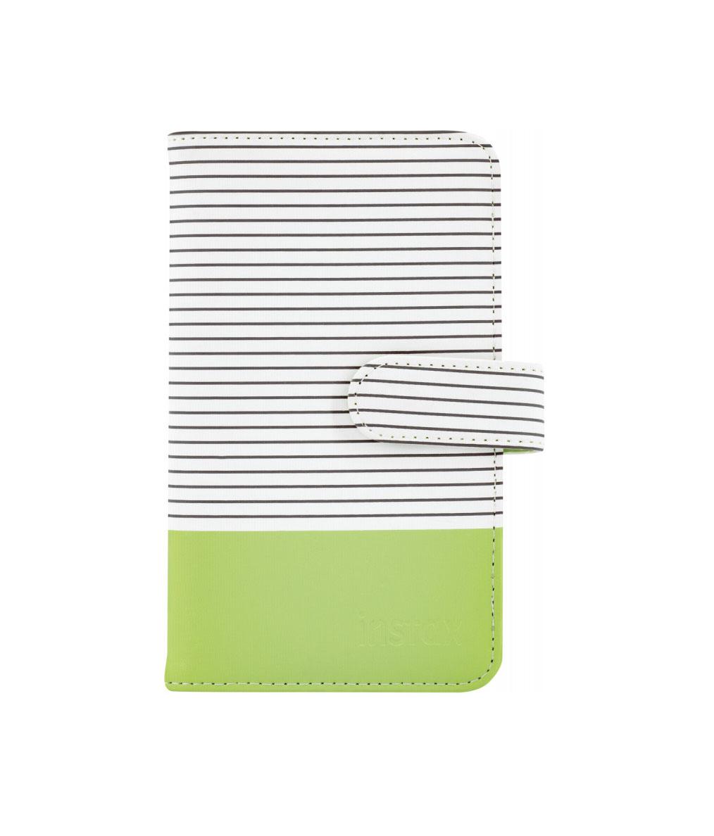 Fujifilm Instax Mini 9 Striped Album Lime Green 108 photos 70100139060 Φωτογράφικο Άλμπουμ