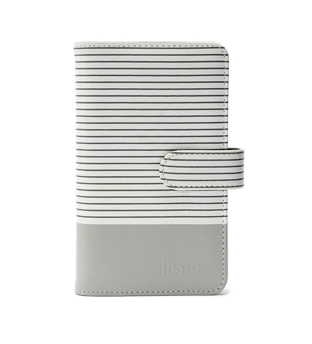 Fujifilm Instax Mini 9 Striped Album Smokey White 108 photos 70100139052 Φωτογράφικο Άλμπουμ