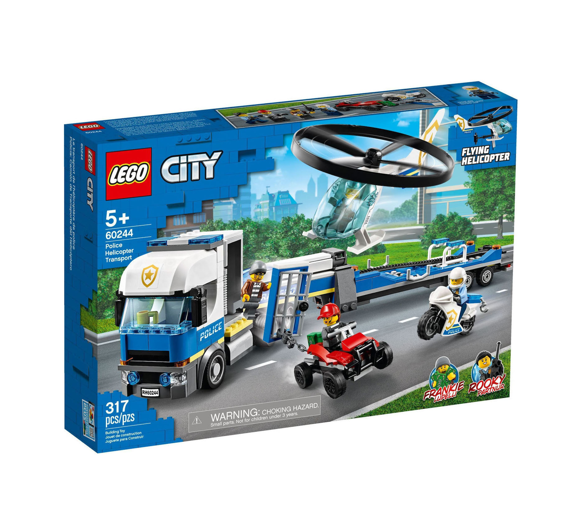Lego City: Police Helicopter Transport 60244