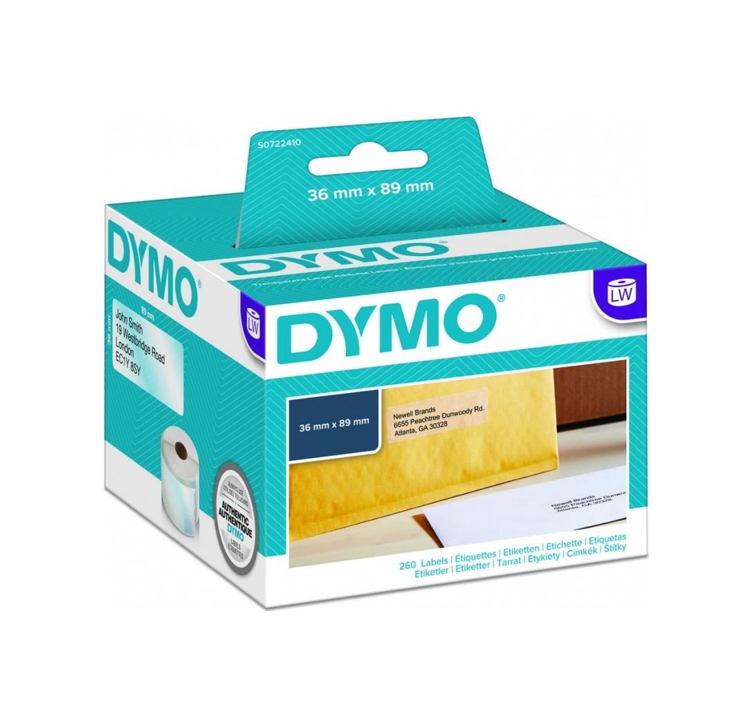 Dymo Adress-Labels Big 99013 36 x 89 mm transp. 260 pieces