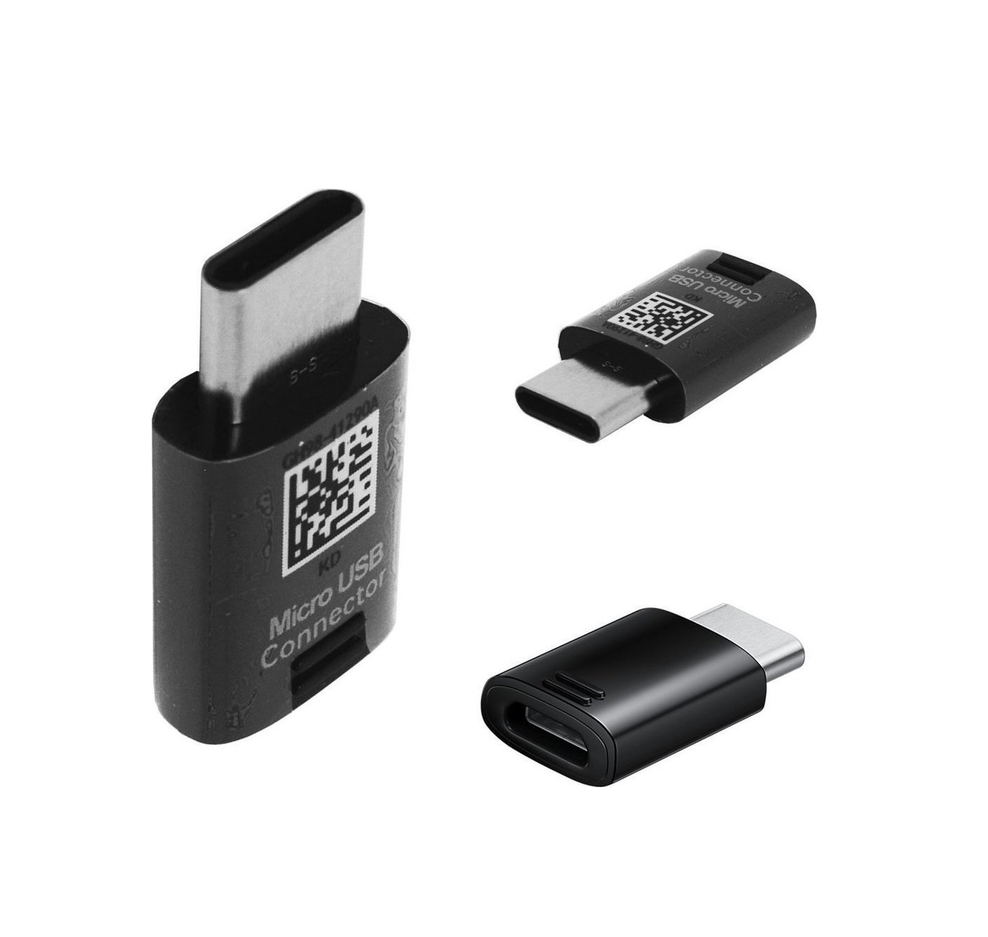Samsung USB-C male - micro USB female GH98-41290A  Αντάπτορας Black Bulk