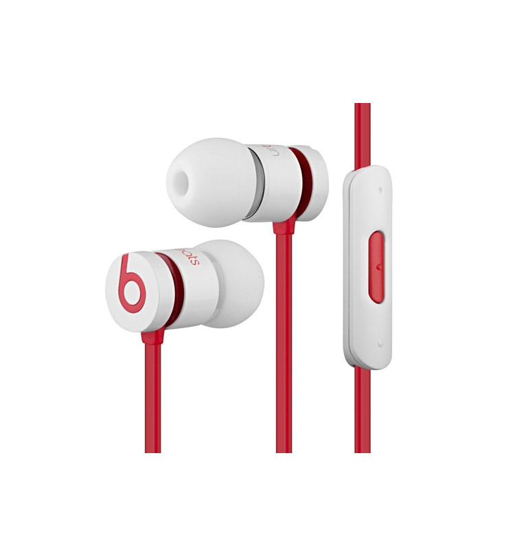 Monster iBeats UrBeats 1.0 3.5mm Handsfree White-Red Bulk B00Y7A8SYE