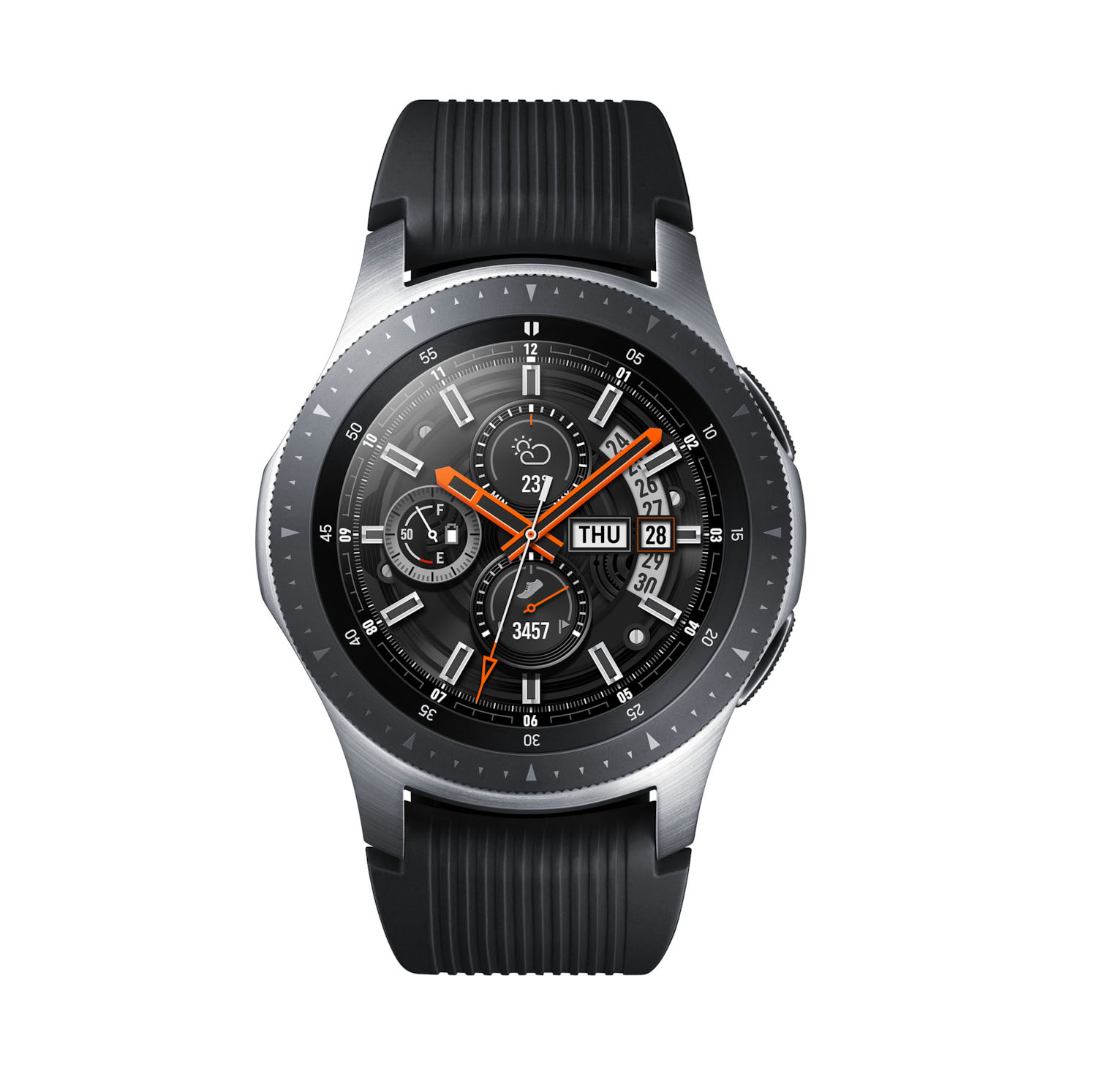 Samsung Galaxy Watch 46mm SM-R800 Silver Πληρωμή έως 24 δόσεις