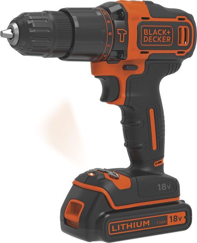 Black & Decker BDCHD18KB-QW 18V 2x1.5Ah Δραπανοκατσάβιδο Πληρωμή έως 24 δόσεις
