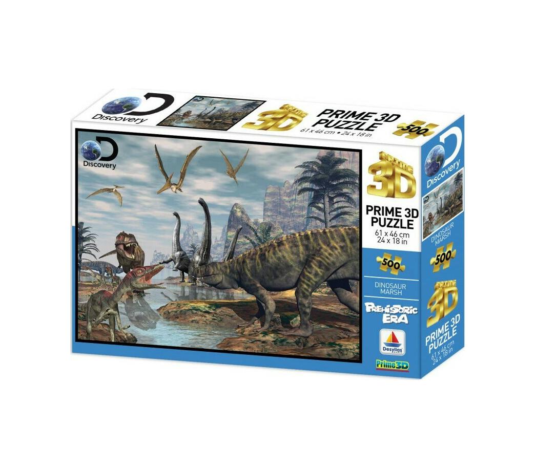 Discovery Dinosaur Marsh Δεινόσαυροι σε Λίμνη 500pcs Puzzle  10087