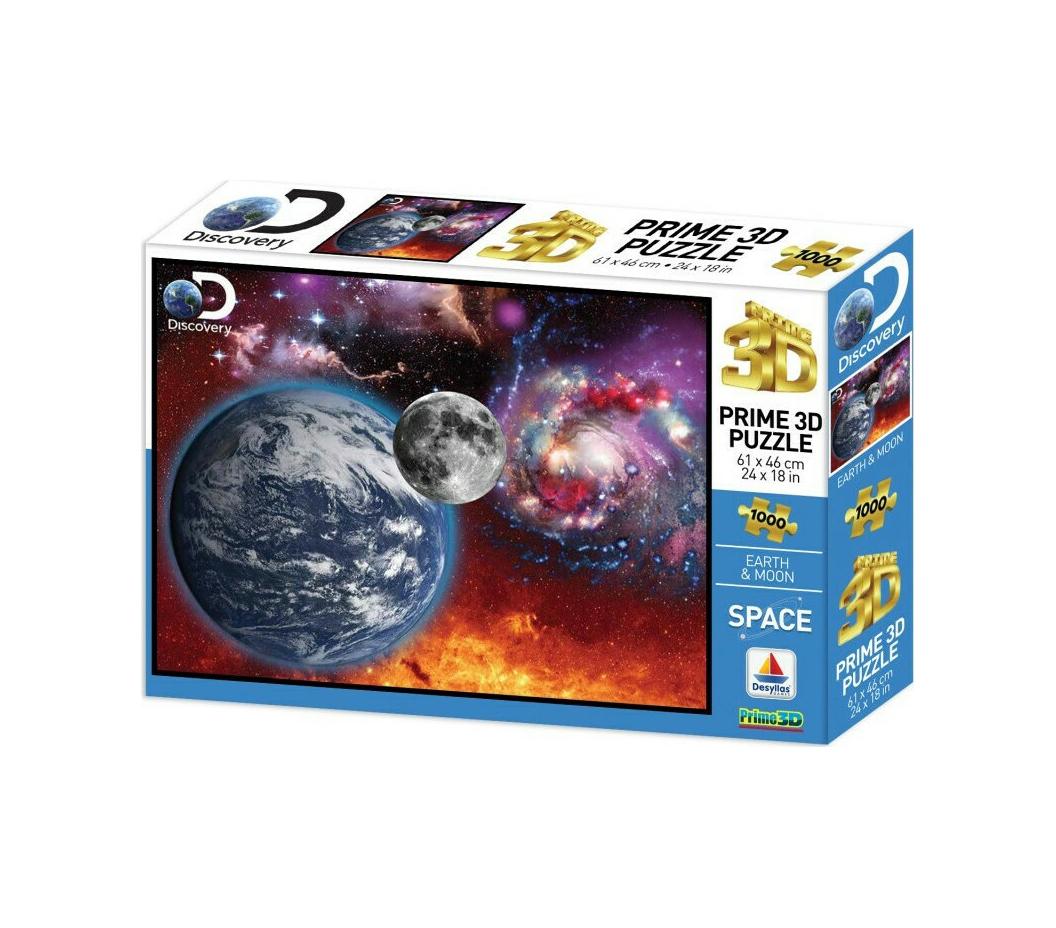 Discovery Γη και Σελήνη 1000pcs Puzzle 16080
