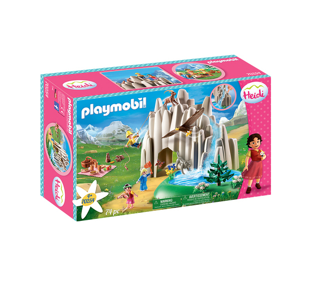 Playmobil Heidi: Η Χάιντι, ο Πέτερ και η Κλάρα στην Κρυστάλλινη Λίμνη 70254
