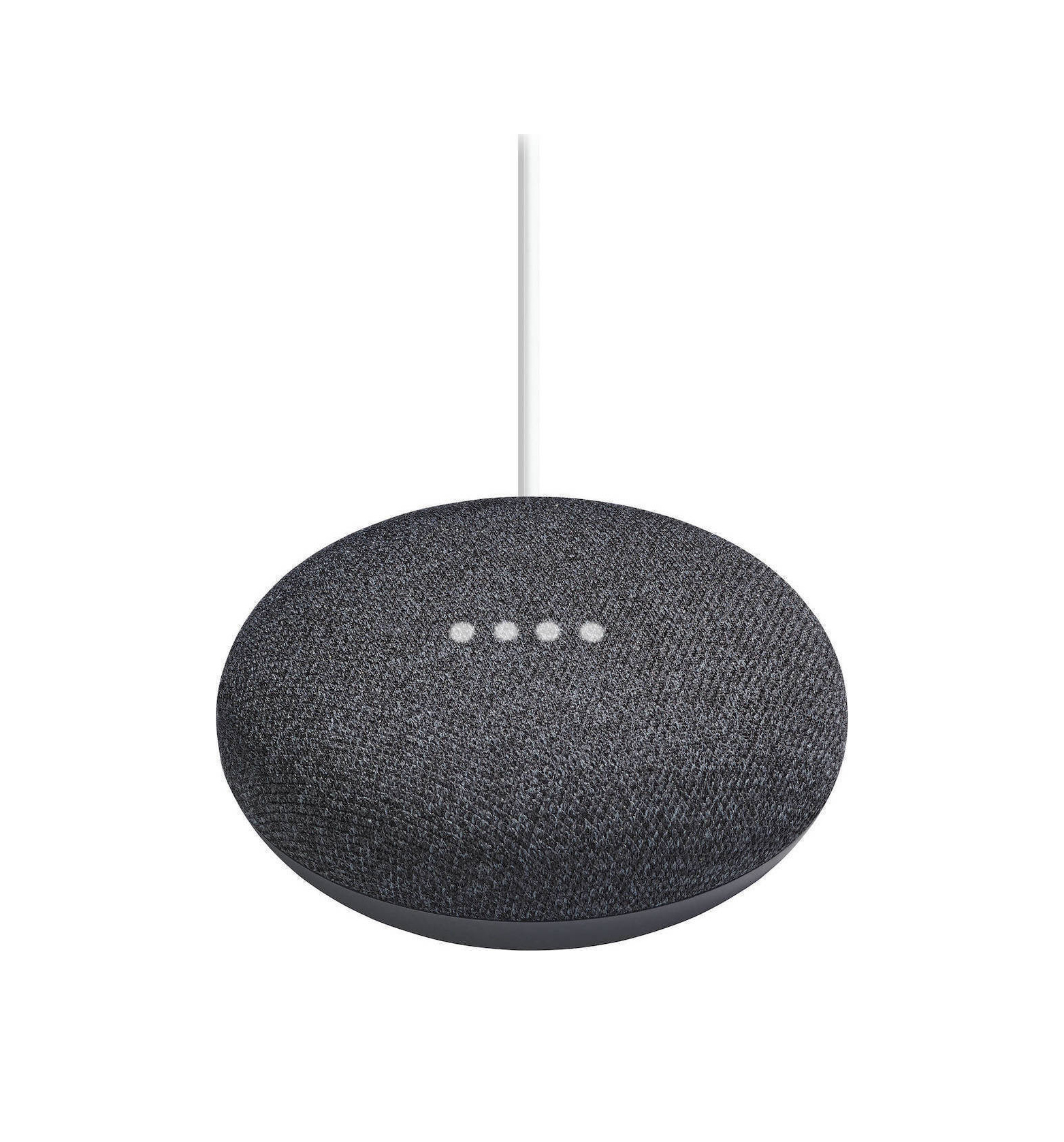 Google Nest Mini (2nd Gen) Charcoal Smart Hub Mε Aντάπτορα