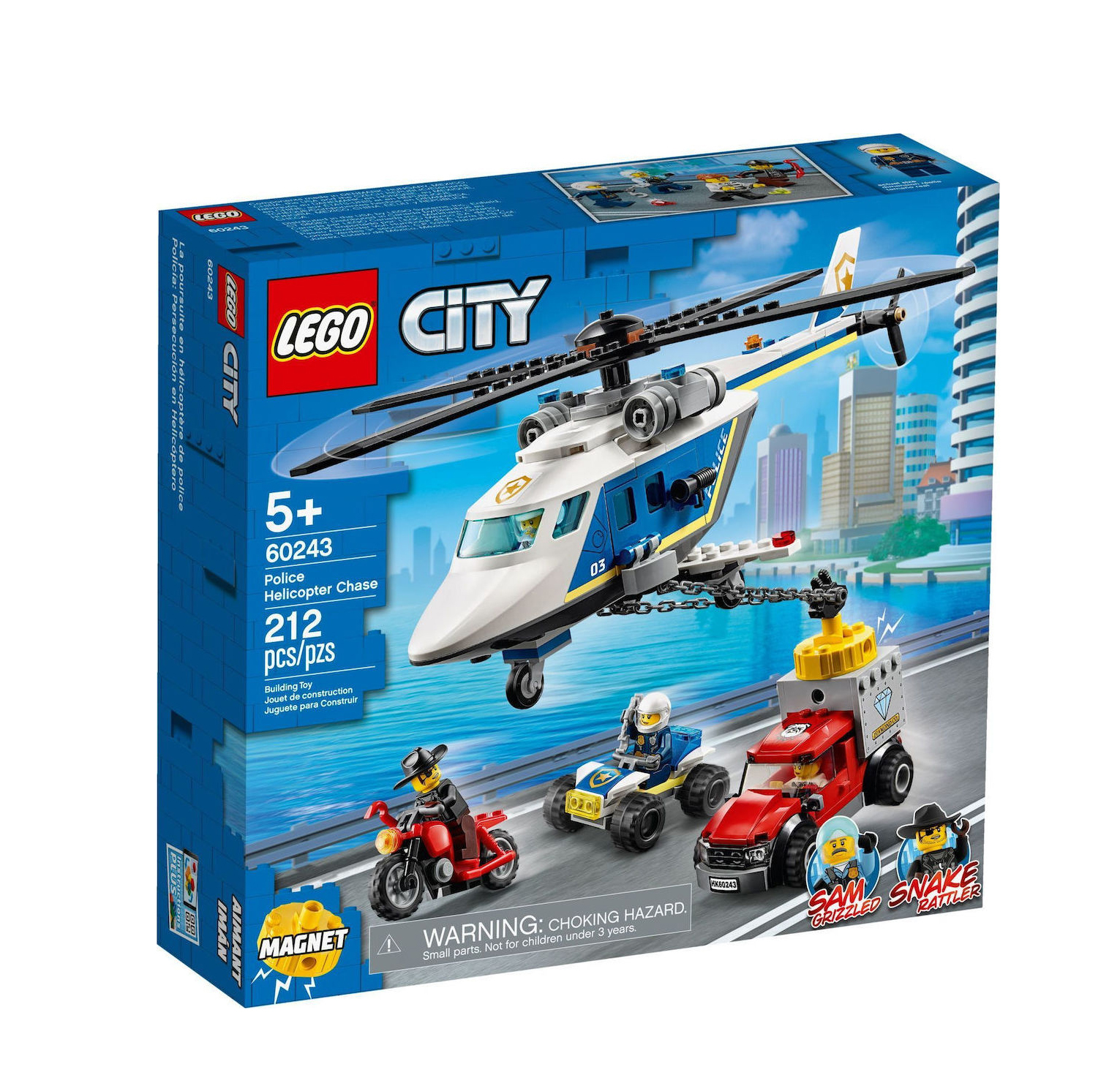 Lego City: Police Helicopter Chase 60243