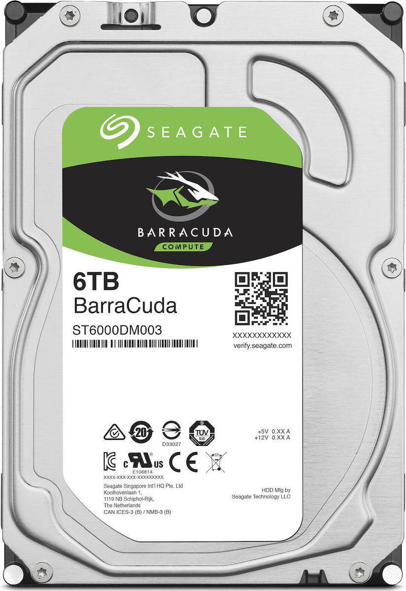 Seagate Barracuda 6TB ST6000DM003 Σκληρός Δίσκος* 3.5'' Sata 3
