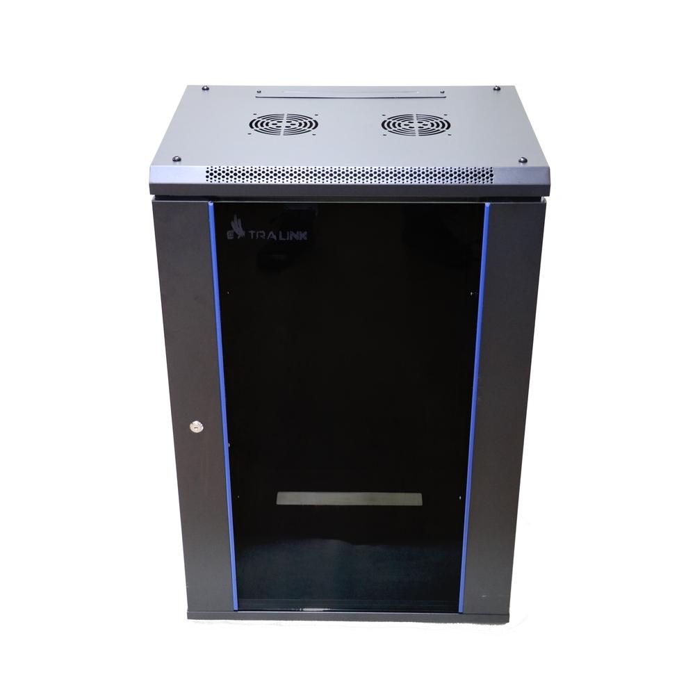 Extralink 15U 600x450  Rackmount cabinet  Wall Mounted Black