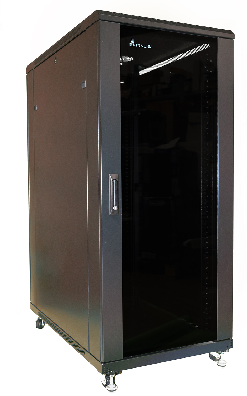 Extralink 37U 600x800 Rackmount Cabinet Standing Black