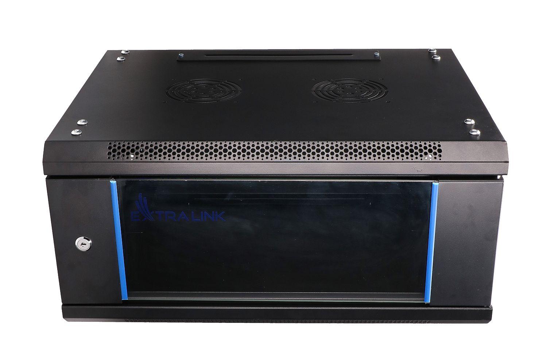 Extralink 4U 600x450 Rackmount cabinet wall Mounted Black