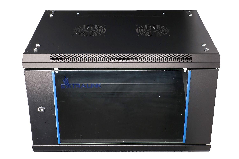 Extralink 6U 600x600 Rackmount Cabinet Wall Mounted Black