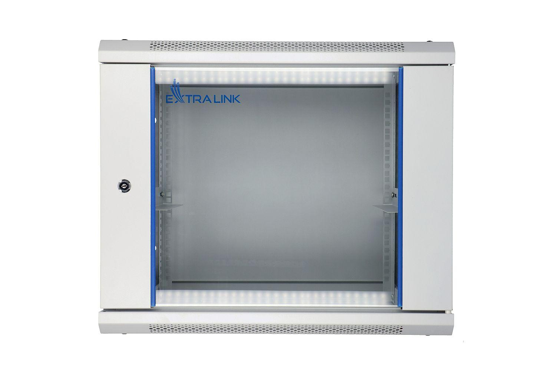 Extralink 9U 600x450 Rackmount Cabinet Wall Mounted Grey